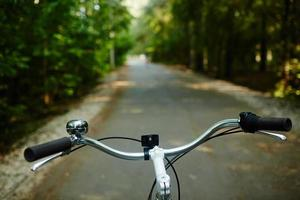 dirección de bicicleta foto