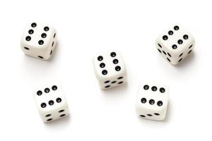 Sixes on Playing Dice - Stock Photo