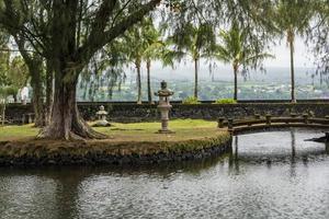 Los jardines en Hilo, Hawaii foto