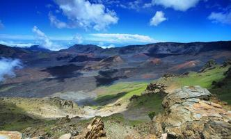 Caldera of the Haleakala volcano in Maui island photo