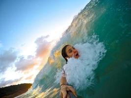 Selfie in the barrel photo