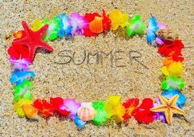 verano en un marco hawaiano