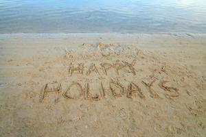 felices vacaciones foto