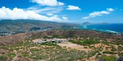 Diamond Head State Monument Park Trail close Honolulu on Oahu