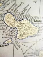 antieke kaart Maui