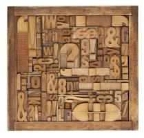 boekdruk blokken abstract