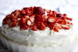 Strawbeery cake photo