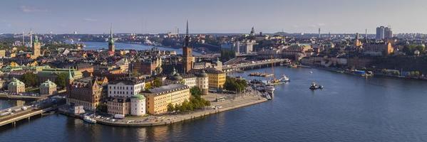 weergave van gamla stan in stockholm