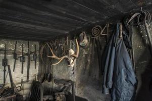 View in a blacksmith workshop