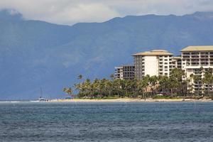 praia de kaanapali, destino turístico de maui havaí