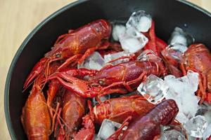 Bowl of crayfish photo