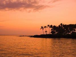 zonsondergang van het eiland Hawaï