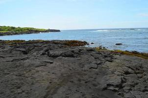 Hawaii Punaluu Black Sand Beach photo