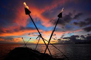 Tiki torch susnet photo