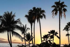 pôr do sol de maui no havaí