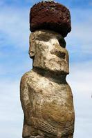 ahu tongariki, moai en la isla de pascua