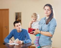 Family having  financial problems photo