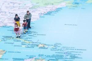 Family vacation concept destination Bahamas