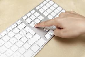 Pressing the Delete Key on Keyboard