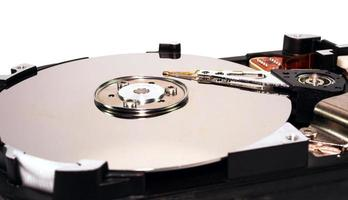 disco duro abierto foto