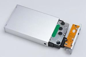 Hard disk that was set in the case. photo