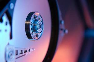 primer plano de la unidad de disco duro interno de una computadora foto