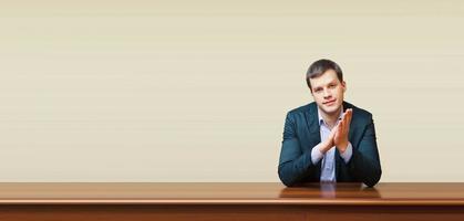 business man on a desk photo