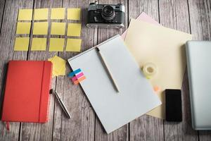 ontwerpers bureau met weinig elementen