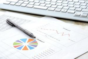 conceito de negócio, mesa no escritório