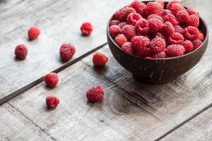 raspberry on a wooden desk