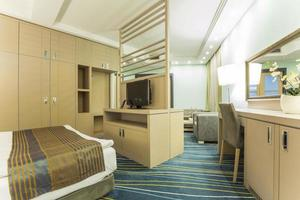 Elegant hotel room interior photo