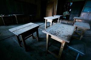 Wooden abandoned school