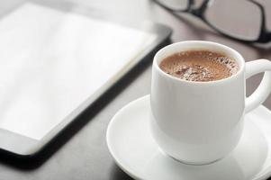 Coffee and tablet device photo