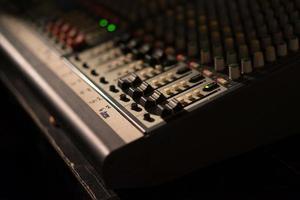fader of audio mixer photo