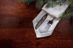 configuração de mesa de natal