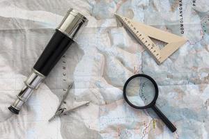 Desk of explorer photo