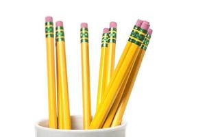 Cup of pencils photo