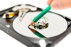 escribir datos en el disco duro foto