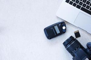 escritorio de fotógrafo foto