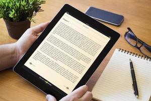 desktop tablet book photo