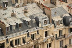 tejados en paris foto
