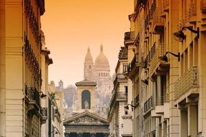 Paris, Notre Dame de Lorette church and Sacré-Coeur photo
