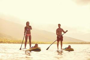 Family Stand Up Paddling photo