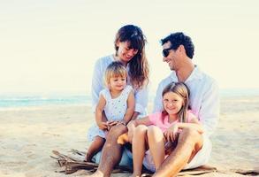 Happy Family at the Beach photo