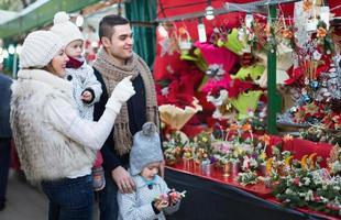 Family in Christmas fair photo