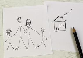 familie en huis