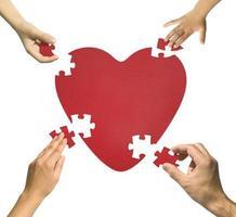 Heart puzzle photo