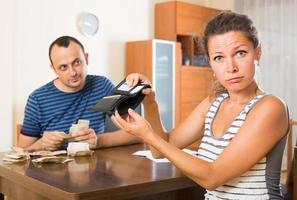 family having finacial problems and debts