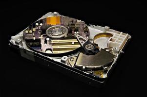 disco duro, circuitos reflejados foto