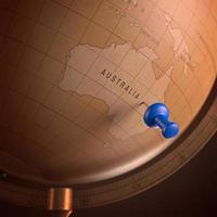 Australië gemarkeerd